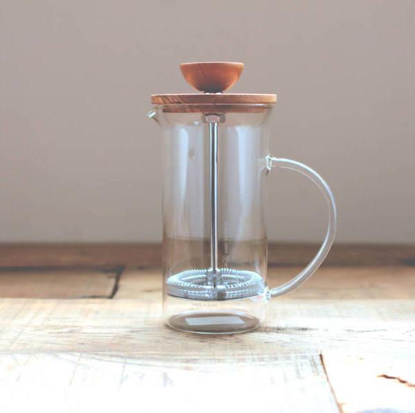 橄欖木濾壓壺
