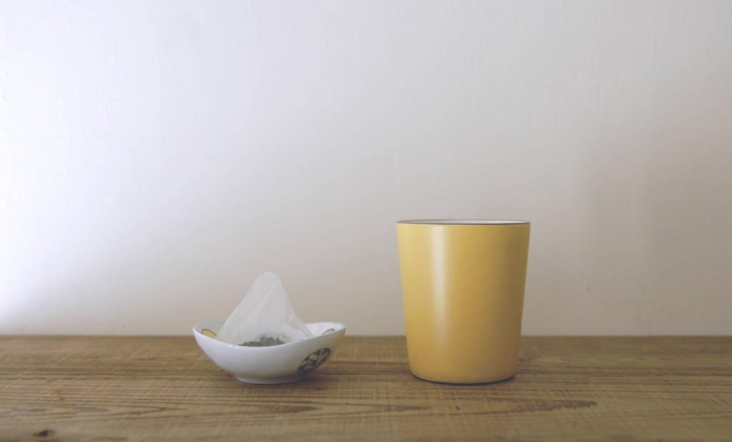 道具準備 - 杯子、茶包、可放置茶包的器皿