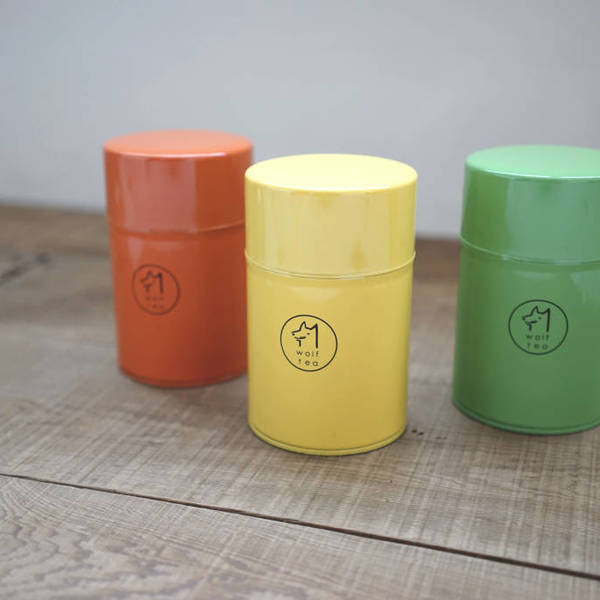 琅彩茶罐 / 橘黃綠