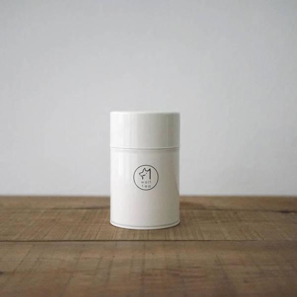 琅彩茶罐裝 / 白