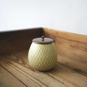 【作家茶器|山下真由美】果實茶罐 – 米黃