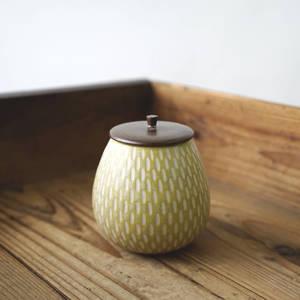 【作家茶器|山下真由美】果實茶罐 - 米黃
