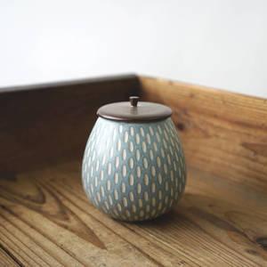 【作家茶器|山下真由美】果實茶罐 - 青