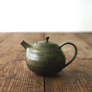 【 琅茶限定 x 山下真由美 】 茶壺 – 漉苔 / 梗蓋 (小)