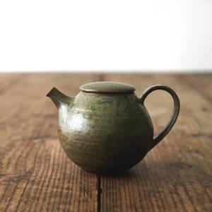 【 琅茶限定 x 山下真由美 】 茶壺 – 漉苔 / 平蓋 (小)
