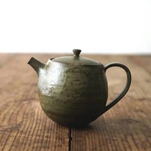 【 琅茶限定 x 山下真由美 】 茶壺 – 漉苔 / 梗蓋 (大)