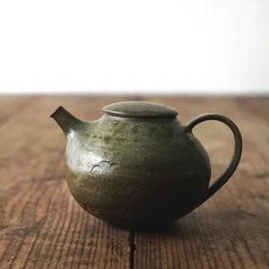 【 琅茶限定 x 山下真由美 】 茶壺 – 漉苔 / 平蓋 (大)