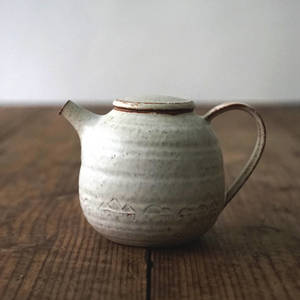 【 琅茶限定 x 山下真由美 】 茶壺 – 銹雪 / 平蓋 (大)