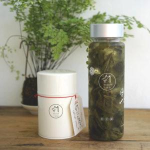 冷泡定番組合 A: 冷泡茶水壺 + 野香烏龍 50g (暖白色琅彩茶罐)